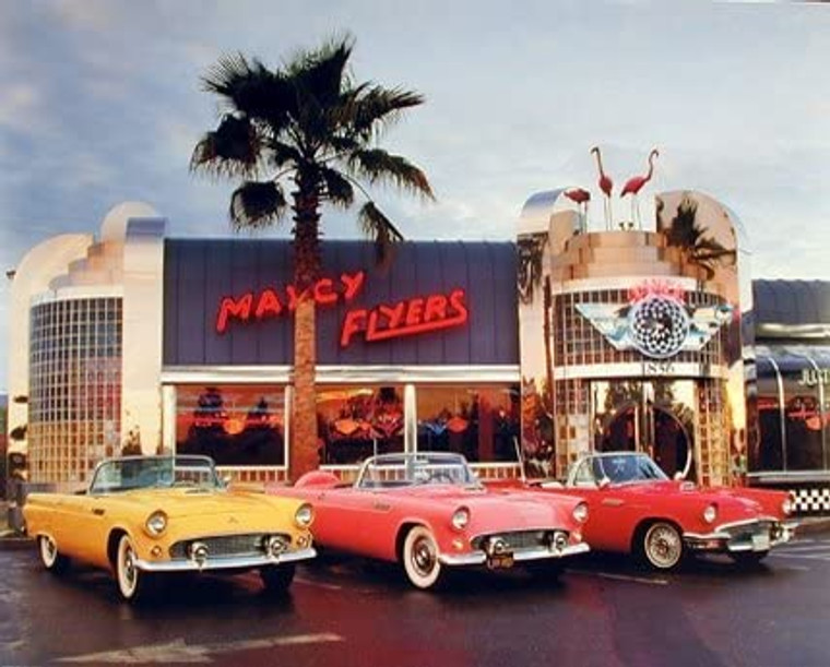 1955 1956 1957 Ford Thunderbirds Vintage Car Wall Decor Picture Art Print (8x10)