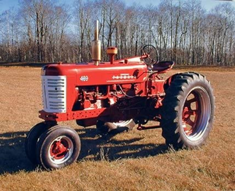 1955 Red Vintage Farmall M 400 Farming Tractor Art Print Picture (8x10)