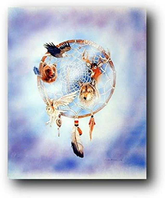 Dreamcatcher Bussiere Native American Wall Decor Picture Art Print (8x10)