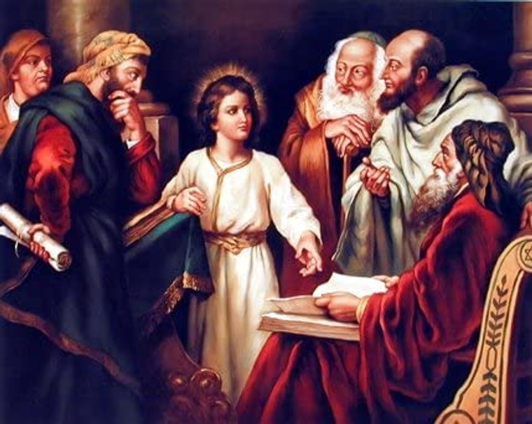 Young Christ with Elders Religion & Spirituality Wall Decor Art Print Picture (8x10)