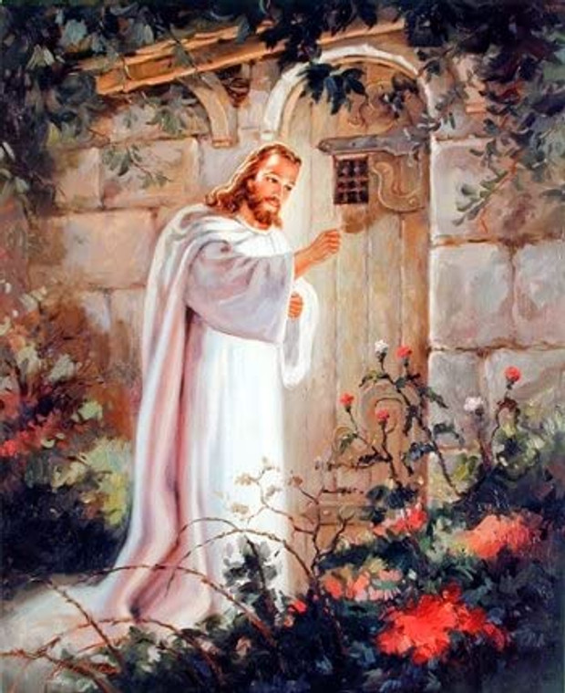 Jesus Christ Knocking At the Door Religious and Spiritual Wall Decor Art Print Picture (8x10)