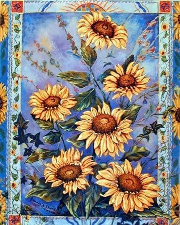 Sunflowers Floral Flowers Nature Wall Decor Art Print Poster (8x10)