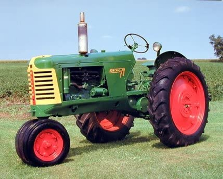 1953 Oliver 77 Row Crop Vintage Farm Tractor Wall Decor Picture Art Print (8x10)