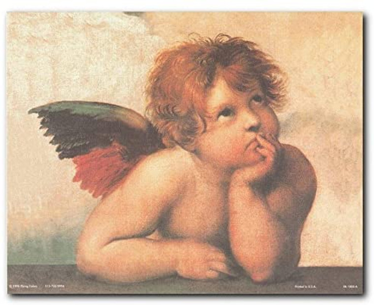 Raphael Cherubini Little Angel Wall Decor Art Print Poster (8x10)