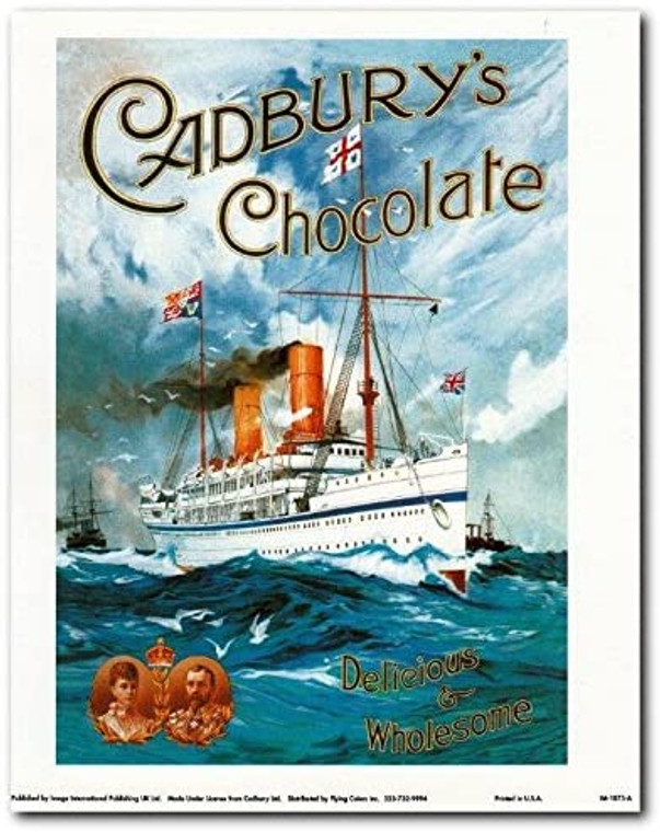 Cadbury's Chocolate, Delicious and Wholesome, Vintage Add Art Print Poster (8x10)