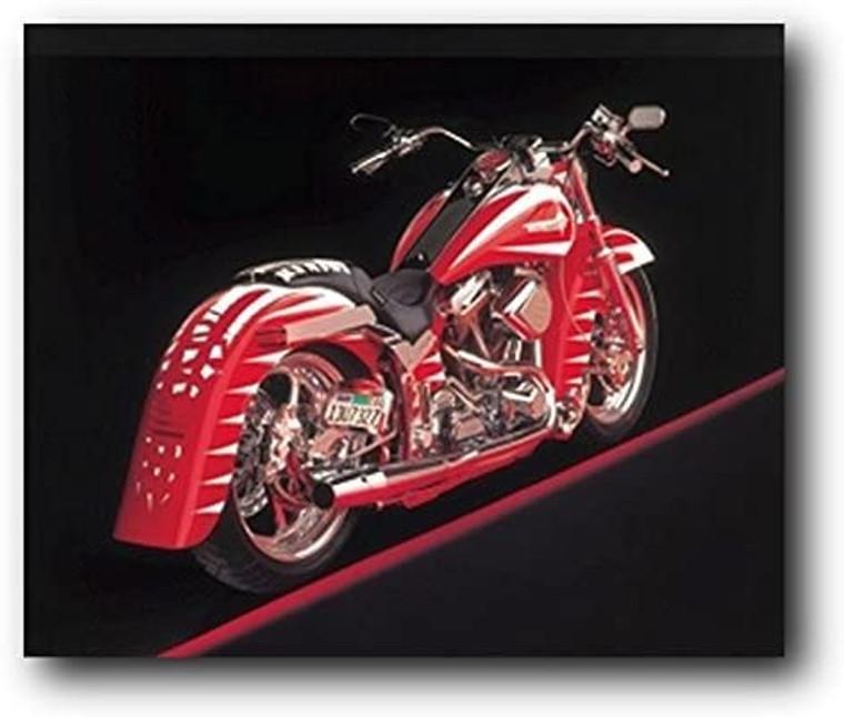 Poster Of Vintage Harley Davidson Motorcycle Wall Decor Art Print Poster (8x10)