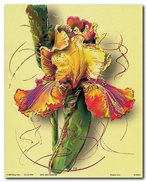 Colorful Flower Floral Fine Wall Decor Art Print Poster (8x10)