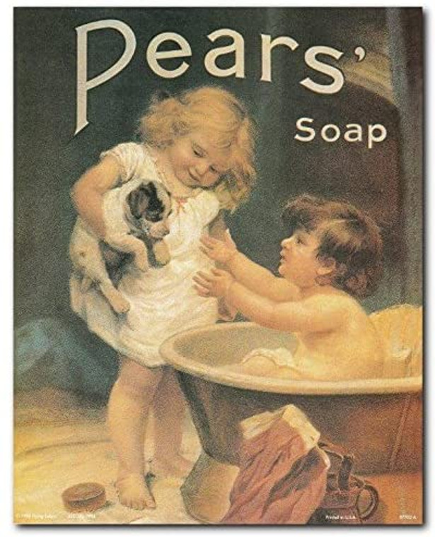 Vintage Pears Soap Ad Advertisement Bathroom Art Print Poster (8x10)