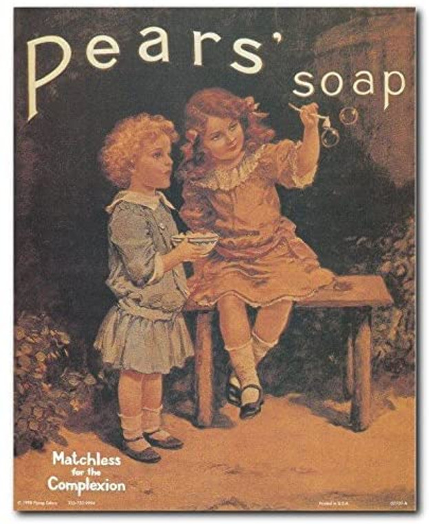 Vintage Pears Soap Ad Advertising Kids Room Art Print Poster (8x10)