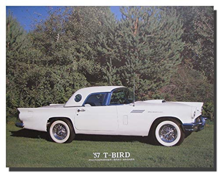 57' Ford Thunderbird Convertible Classic Cars Wall Decor Art Print Poster (16x20)