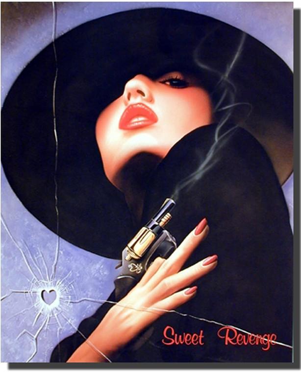 Sweet Revenge Woman Bullet Wall Decor Picture Art Print Poster (16x20)