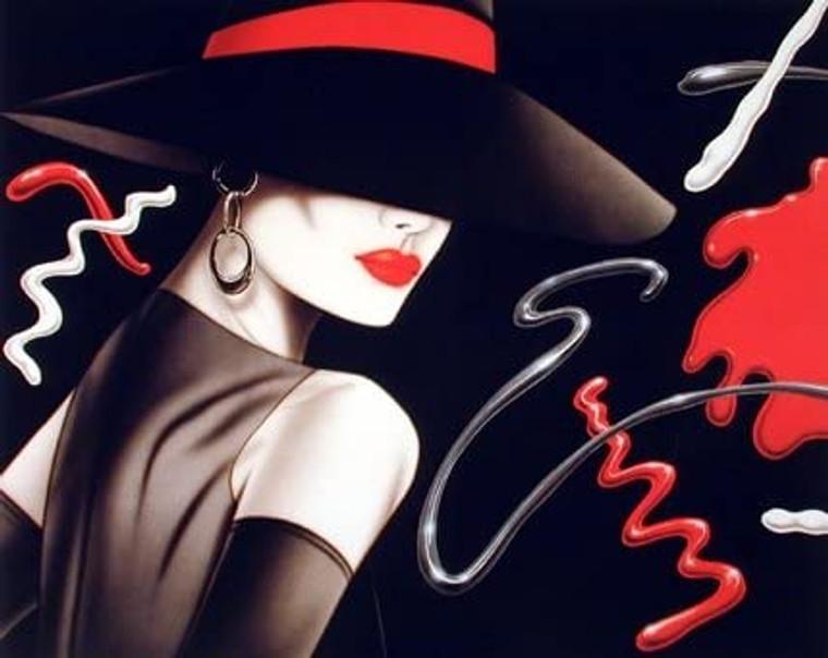 Le Chapeau Exotic Woman Vogue Fine Picture Wall Decor Art Print (16x20)