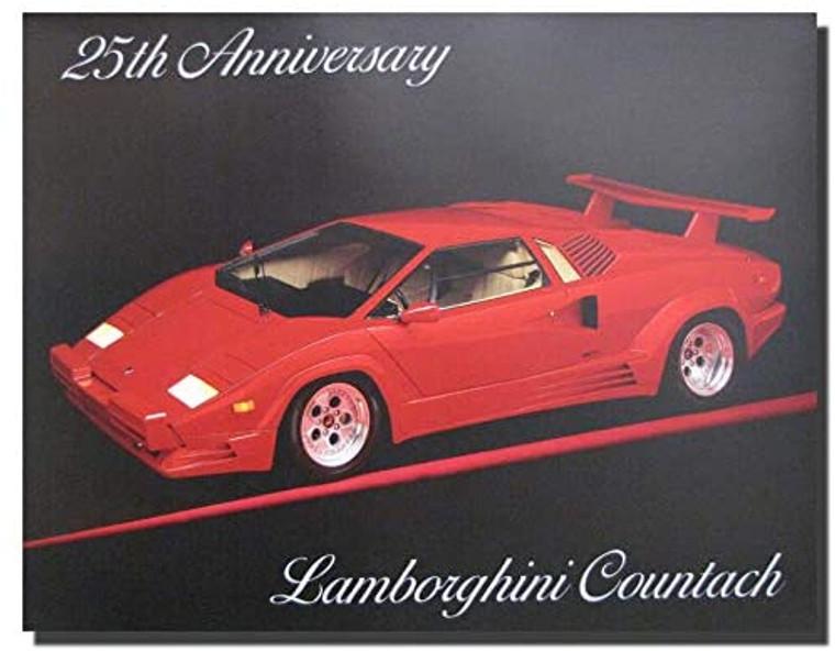 25th Anniversary Lamborghini car Countach Sport Wall Decor Art Print Poster (16x20)