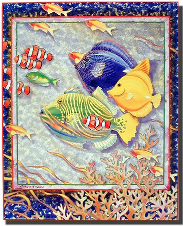 Exotic Tropical Ocean Fish Home Decor Wall Decor Picture Art Print (16x20)