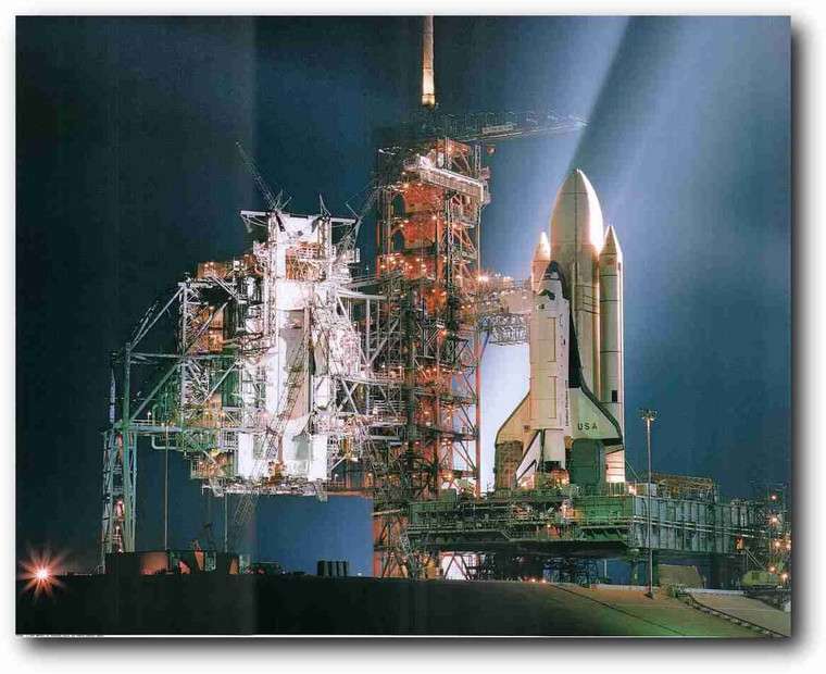 NASA Space Shuttle Night Launch Inspirational Wall Picture Art Print Poster (16x20)