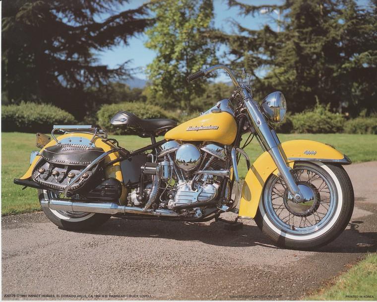 1954 Panhead Harley Davidson Motorcycle Picture Wall Art Print (16x20)