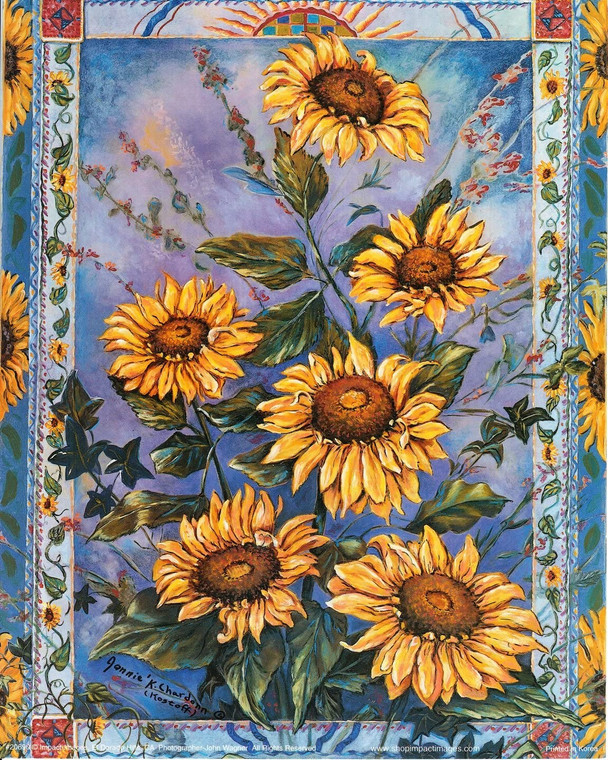 Sunflowers Floral Flowers Nature Wall Decor Art Print Poster (16x20)