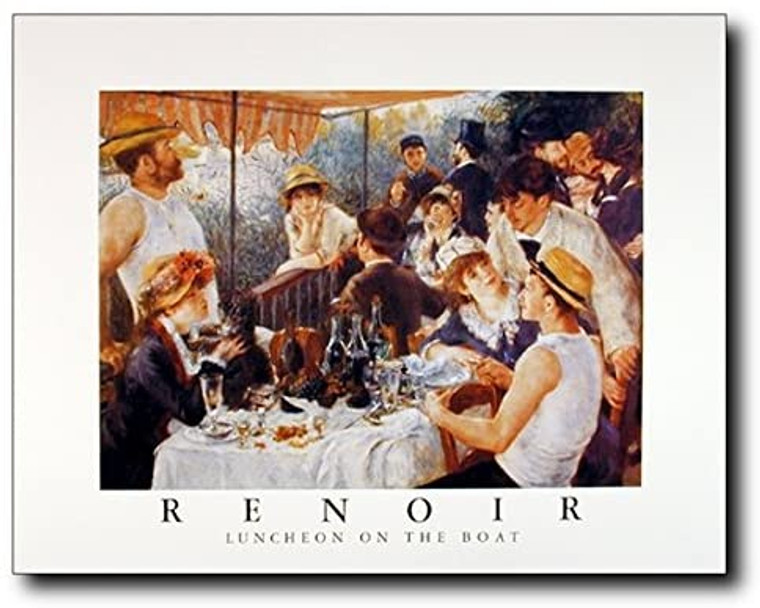 Renoir Luncheon on The Boat Party Impressionist Wall Decor Art Print Poster (16x20)