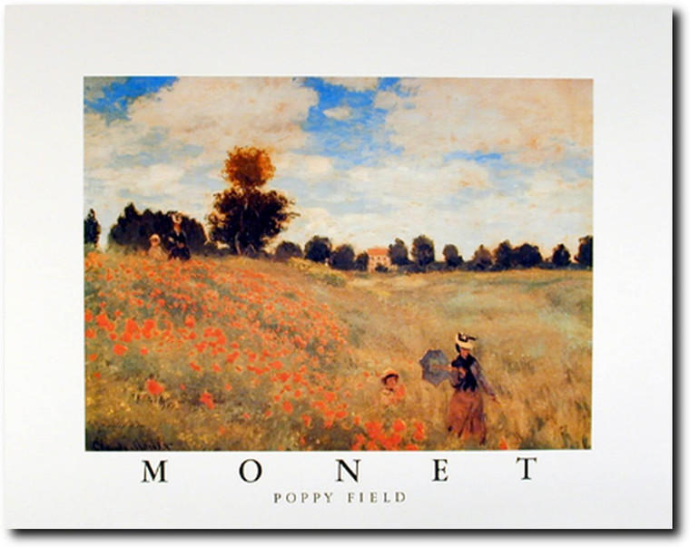 Claude Monet Field Poppies Blooming Impressionist Art Print Picture (16x20)