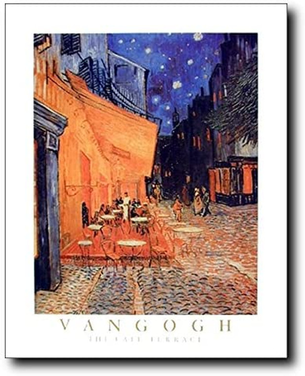 Vincent Van Gogh the Cafe Terrace At Night Wall Decor Art Print Picture (16x20)