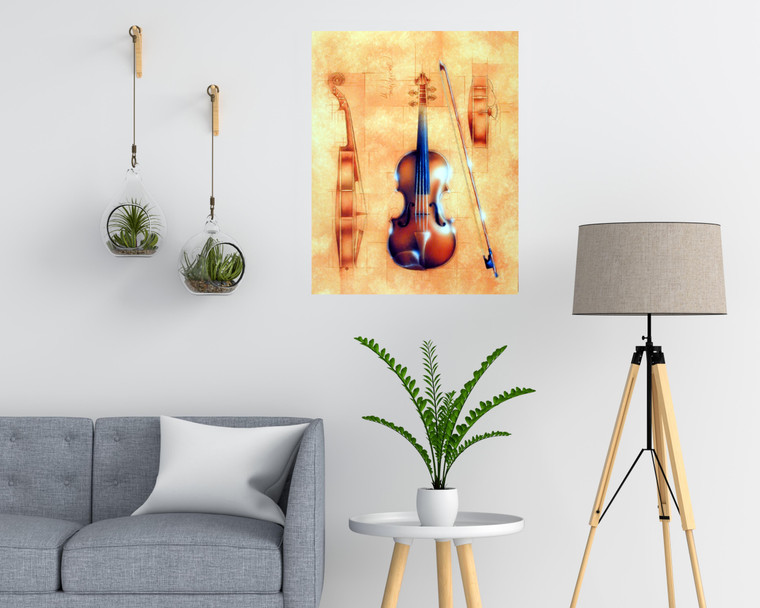 Wall Decor Fine Arts Instrument (Violin) Wall Decor Art Print Poster (16x20)