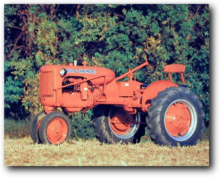 "1948 Allis Chalmus ""C"" Vintage Tractor Farming Wall Picture Art Print (16x20)"