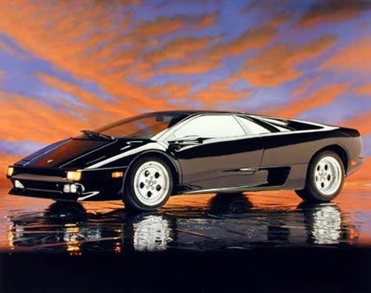 Lamborghini Diablo Car Transportation Art Print Poster (16x20)