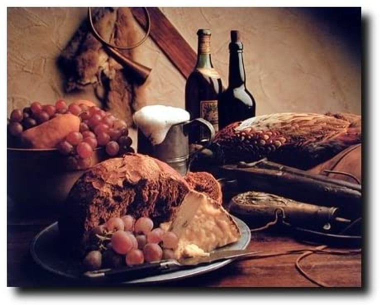 Vintage Wine & Grapes Pheasant Winery Wall Decor Art Print Poster (16x20)