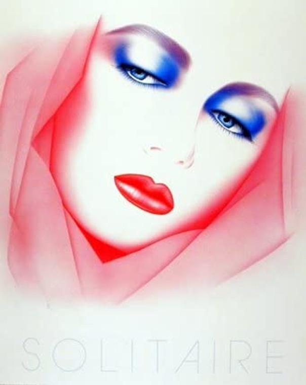 Solitaire Michael Woodward Exotic Lady Vogue Fine Wall Decor Picture Art Print (16x20)