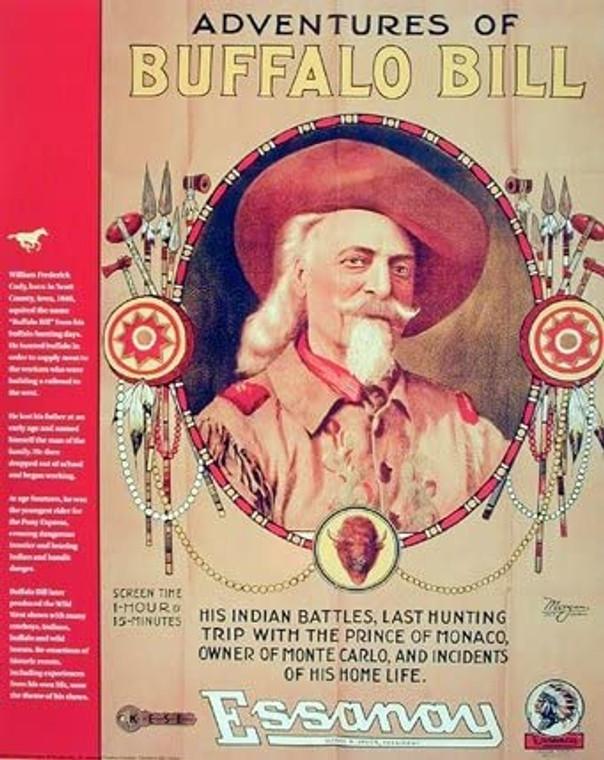 Buffalo Bill Western Rodeo Cowboy Vintage Wall Decor Picture Art Print (16x20)