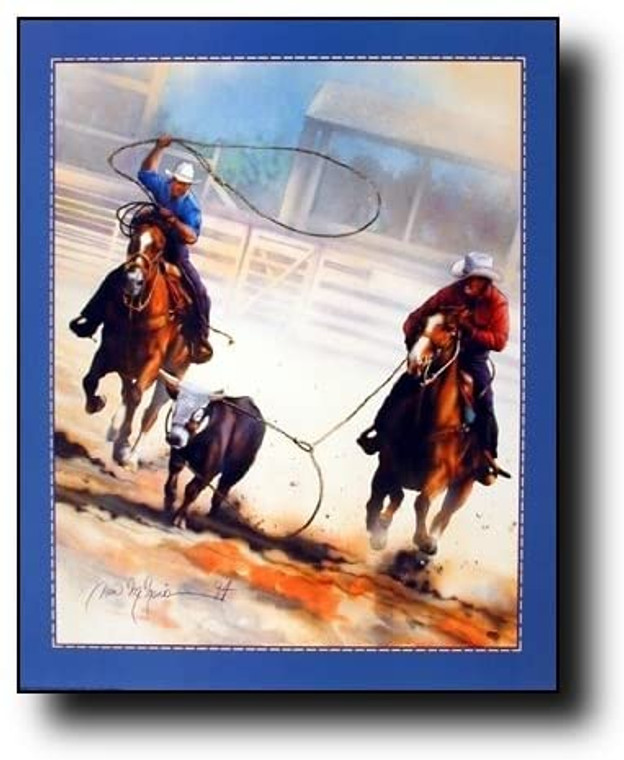 Western Cowboy Roping Rodeo Horse Old West Wall Decor Picture Art Print (16x20)