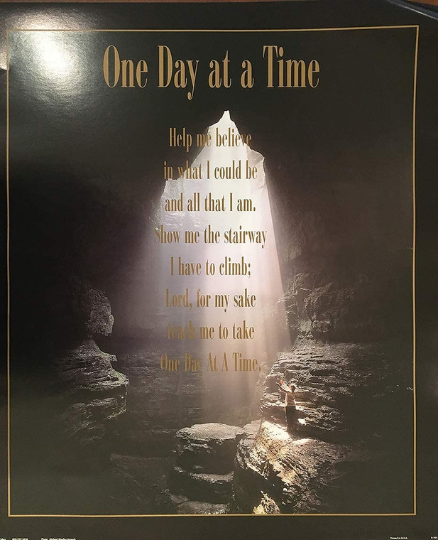 One Day at A Time Quotes in Motivational and Inspirational Wall Decor Art Print Poster (16x20)
