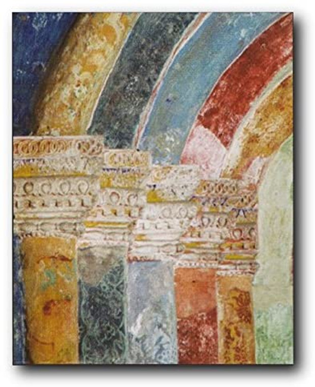 Architectural Portal Column Left Wall Decor Art Print Poster (16x20)