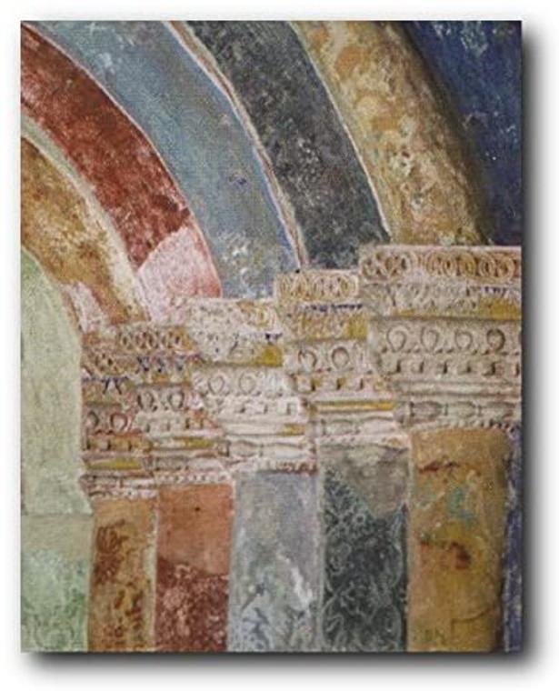 Architectural Portal Column Right Wall Decor Art Print Poster (16x20)