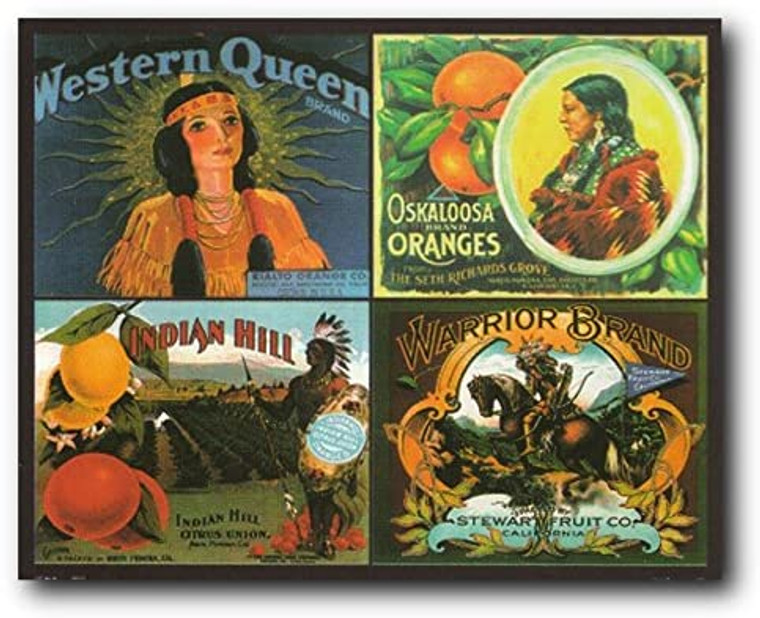 Rialto San Bernardino Western Queen Orange Gate Collage Wall Decor Art Print Poster (16x20)