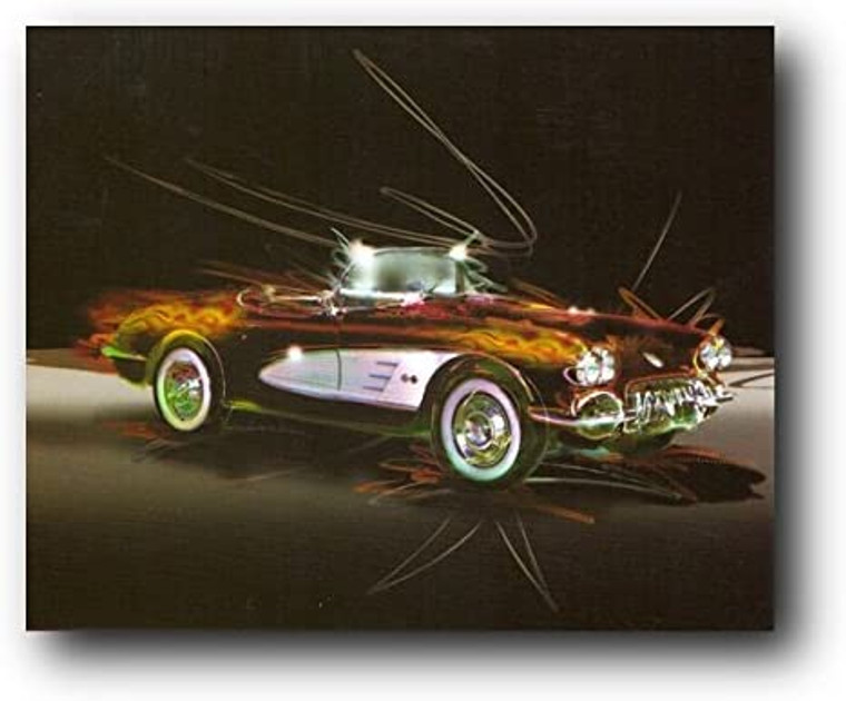 Wall Decor Vintage Muscle Classic Old Car Art Print Poster (16x20)