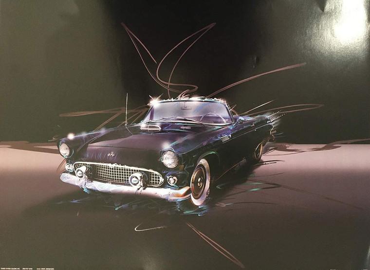 Convertible Vintage Purple Classic Cars Wall Decor Art Print Poster (16x20)