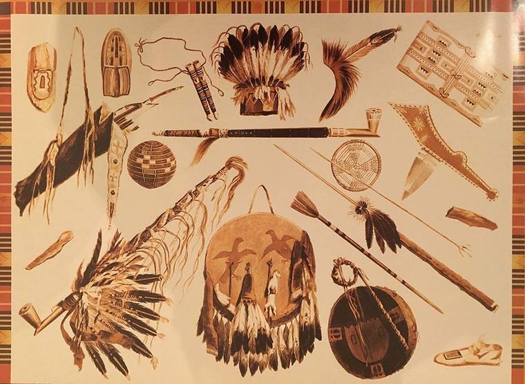 African Tribal Ancient Map Wall Decor Art Print Poster (16x20)