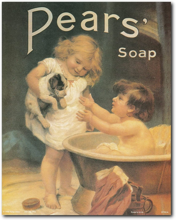 Vintage Pears Soap Ad Advertisement Bathroom Art Print Poster (16x20)