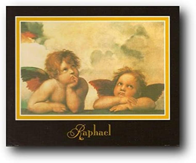 Raphael (Little Angels) Sistine Madonna Wall Decor Art Print Poster (16x20)