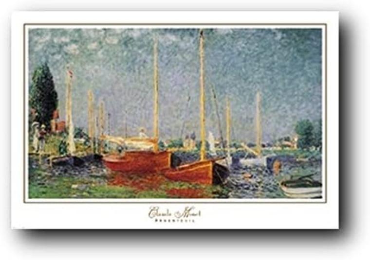 Claude Monet Boats at Argenteuil Art Print Poster (24x36)