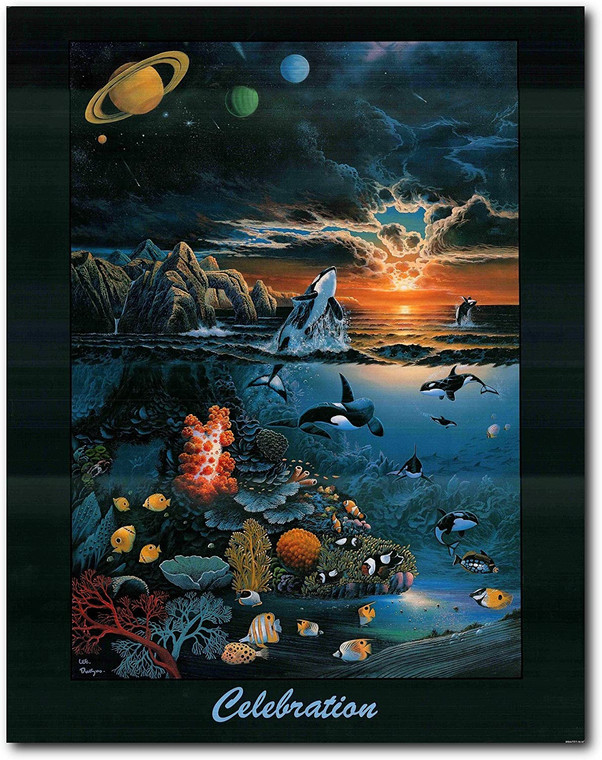 Wall Decor Art Print World Oceans Day Celebration Ocean Underwater Coral Poster (22x28)