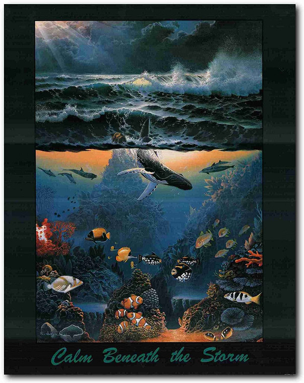 Picture Wall Decoration Coral Reef Ocean Underwater Whale Art Print Poster (22x28)