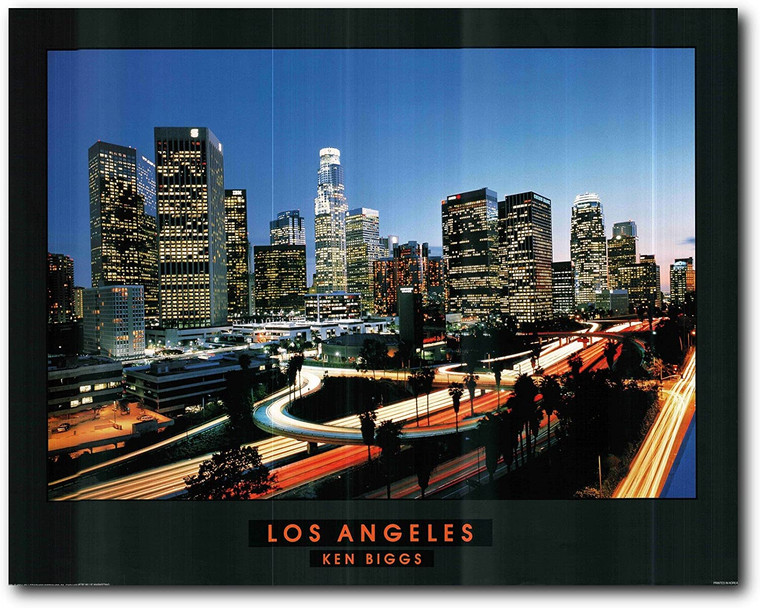 Picture Wall Decoration Los Angeles Skyline City Art Print Poster (22x28)