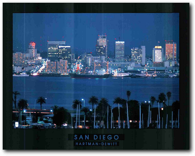 Picture Wall Decor San Diego Skyline City in California Art Print Poster (22x28)