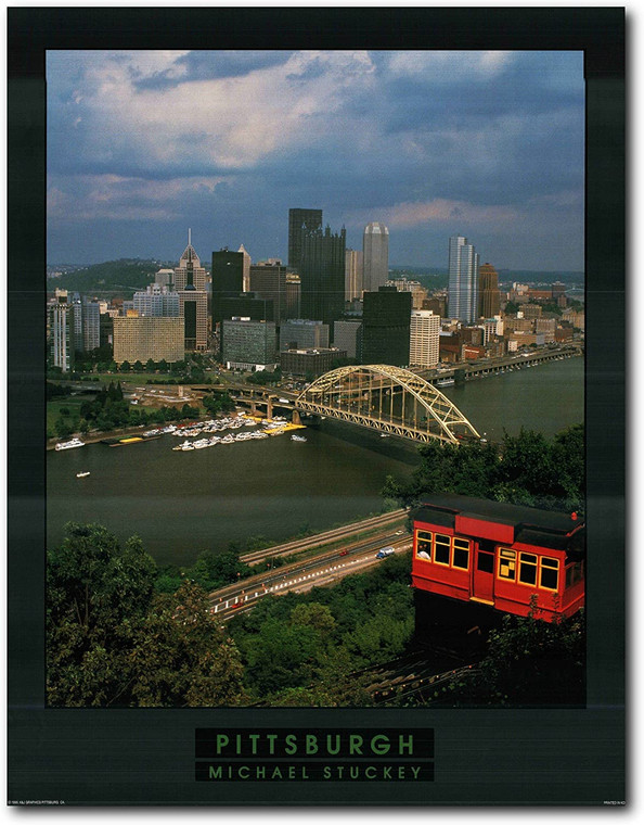 Picture Wall Decor Pittsburgh City in Pennsylvania Art Print Poster (22x28)