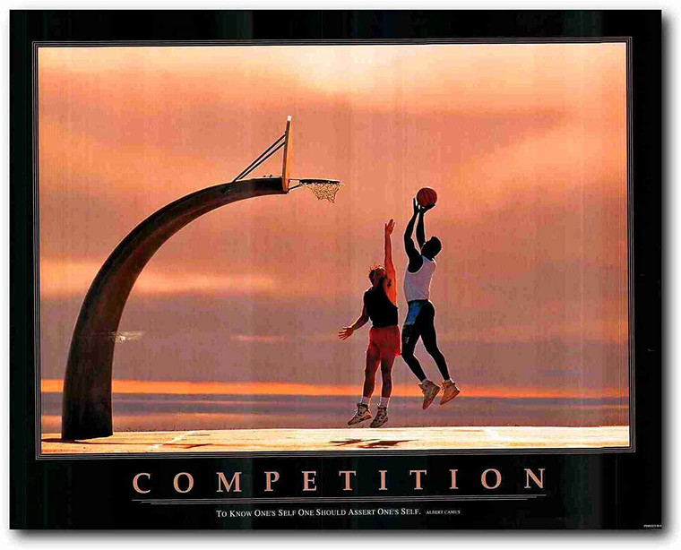 Picture Wall Decoration Basketball Sports Motivational Art Print Poster (22x28)