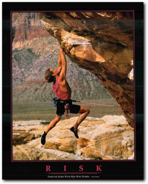 Picture Wall Decor Risk Dare Climber Motivational Inspirational Art Print Poster (22x28)