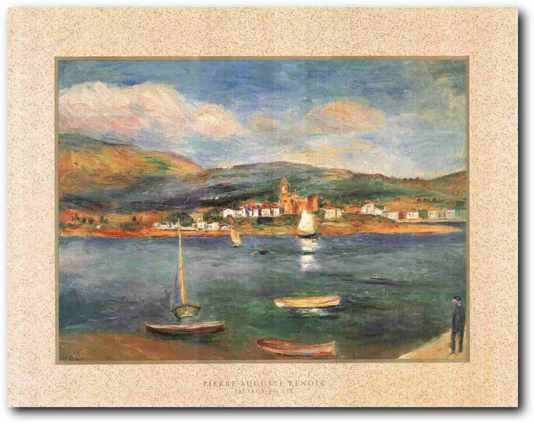 Wall Decor Art Print Paysage Pierre Auguste Renoir Sea Boating Painting Poster (22x28)