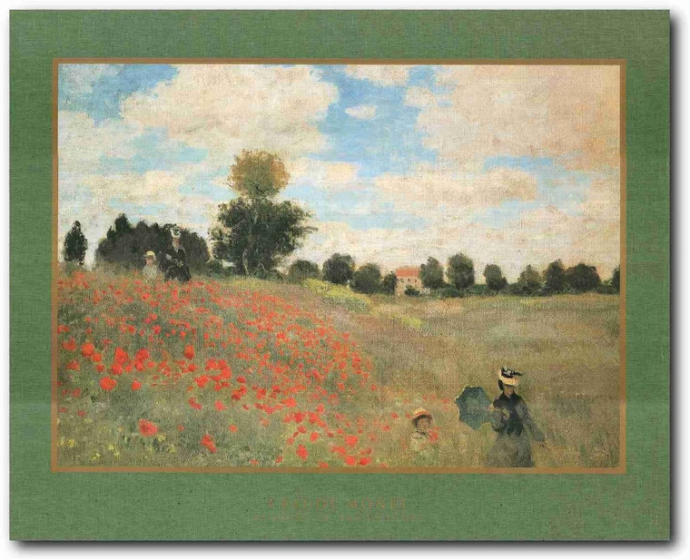 Picture Wall Decor Poppies At Argenteuil Claude Monet Art Print Poster Painting (22x28)